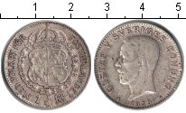 Изображение Монеты Швеция 1 крона 1939 Серебро VF