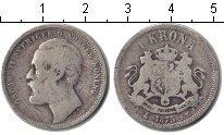 Изображение Монеты Швеция 1 крона 1875 Серебро VF Оскар II