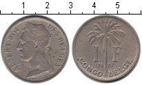 Изображение Монеты Бельгийское Конго 1 франк 1927 Медно-никель XF Альберт I