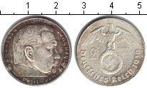 Изображение Монеты Третий Рейх 2 марки 1939 Серебро XF А. Пауль фон Гинденб