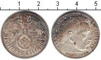 Изображение Монеты Третий Рейх 2 марки 1939 Серебро XF D. Пауль фон Гинденб