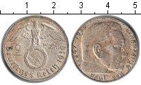 Изображение Монеты Третий Рейх 2 марки 1939 Серебро XF J. Пауль фон Гинденб