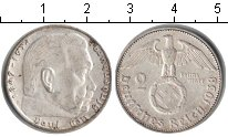 Изображение Монеты Третий Рейх 2 марки 1938 Серебро XF B. Пауль фон Гинденб