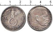 Изображение Монеты Третий Рейх 2 марки 1939 Серебро XF Пауль фон Гинденбург