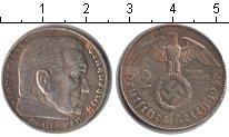 Изображение Монеты Третий Рейх 2 марки 1937 Серебро XF A. Пауль фон Гинденб
