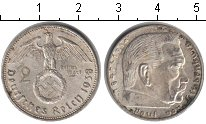Изображение Монеты Третий Рейх 2 марки 1938 Серебро XF A. Пауль фон Гинденб