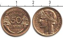 Изображение Монеты Французская Западная Африка 50 сантим 1944  XF