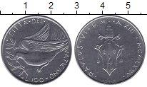 Изображение Мелочь Ватикан 100 лир 1975 Медно-никель UNC-