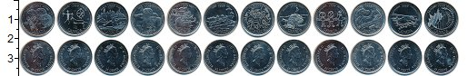 Изображение Наборы монет Канада Канада 1999 1999 Медно-никель UNC- В наборе 12 монет но