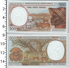 Изображение Банкноты Центральная Африка КФА 500 франков 0  UNC-