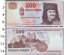 Изображение Банкноты Венгрия 500 форинтов 2010  UNC-
