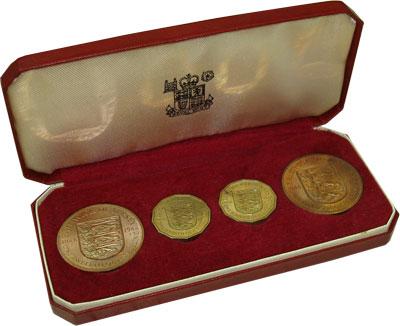 Изображение Подарочные монеты Остров Джерси Выпуск монет 1966 года 1966  Proof- Выпуск монет 1966 го