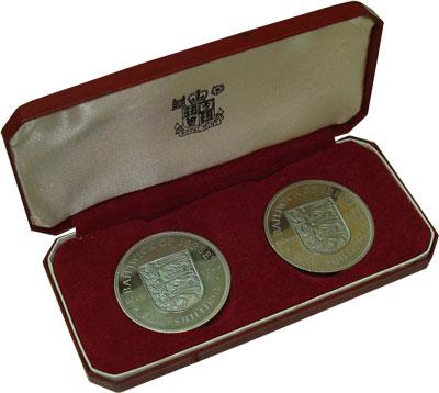 Изображение Подарочные монеты Остров Джерси Выпуск 1966 1966 Медно-никель Proof Выпуск монет 1966 го
