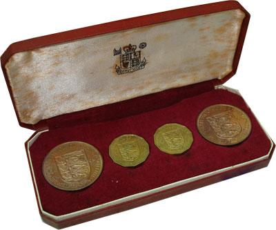 Изображение Подарочные монеты Остров Джерси Выпуск 1964 1964  Proof Выпуск монет 1964 го