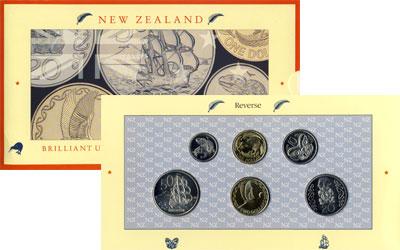 Изображение Подарочные монеты Новая Зеландия Выпуск 1990 года 1990  UNC Выпуск монет 1990 го