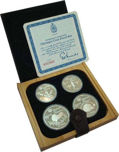 Изображение Подарочные наборы Канада Олимпийские игры 1976 года 1975 Серебро Proof
