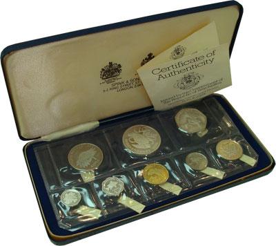 Изображение Подарочные монеты Сейшелы Выпуск 1976 года 1976  Proof .