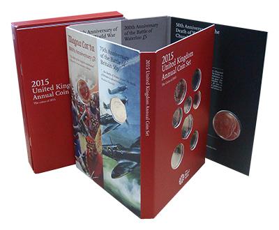 Изображение Подарочные наборы Великобритания Новые гербы 2015 2015  AUNC Набор посвящён новом