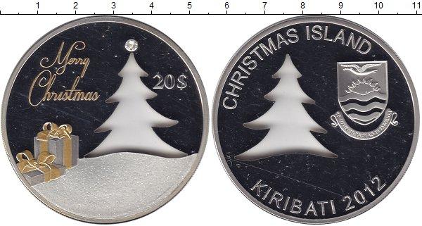 Картинка Подарочные монеты Кирибати С Рождеством! Серебро 2012