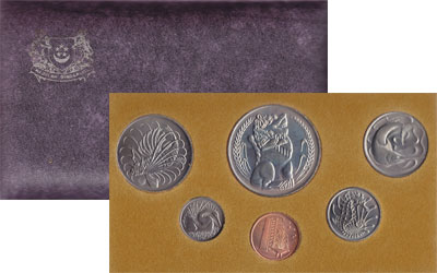 Изображение Подарочные монеты Сингапур Год лошади 1978 1978  AUNC Выпуск монет 1978 го