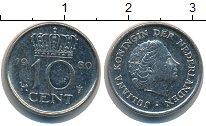 Изображение Дешевые монеты Нидерланды 10 центов 1980