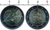 Изображение Мелочь Германия 2 евро 2015 Биметалл UNC F. 25 лет объединени