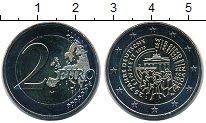 Изображение Мелочь Германия 2 евро 2015 Биметалл UNC J. 25 лет объединени