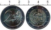 Изображение Мелочь Германия 2 евро 2015 Биметалл UNC G. 25 лет объединени