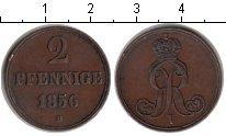 Изображение Монеты Германия Ганновер 2 пфеннига 1856 Медь XF