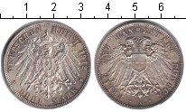 Изображение Монеты Любек 3 марки 1912 Серебро XF