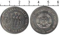Изображение Монеты ГДР 5 марок 1975 Медно-никель UNC- Международный год же