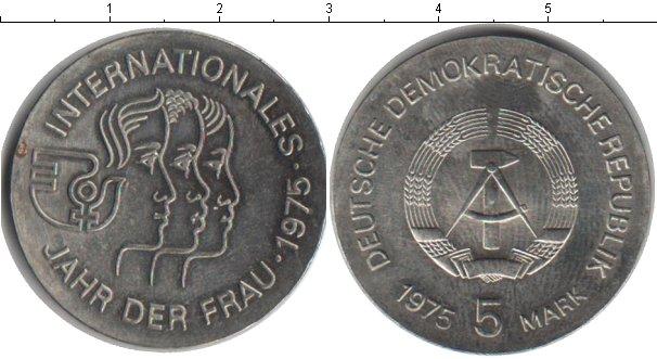 Картинка Монеты ГДР 5 марок Медно-никель 1975