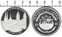 Изображение Монеты Либерия 20 долларов 2001 Серебро Proof- Люксембург