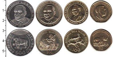 Изображение Наборы монет Танзания Танзания 2014-2015 0  UNC- В наборе 4 монеты но