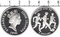 Изображение Монеты Острова Кука 5 долларов 1991 Серебро Proof