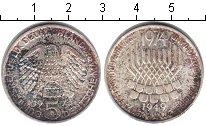 Изображение Монеты ФРГ 5 марок 1974 Серебро  25-летие ФРГ.