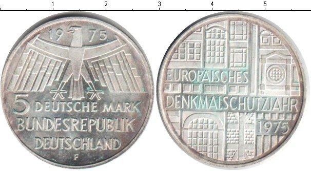Картинка Монеты ФРГ 5 марок Серебро 1975
