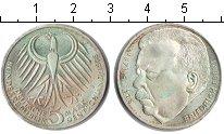 Изображение Монеты ФРГ 5 марок 1975 Серебро XF Фридрих Эберт
