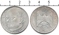 Изображение Монеты ФРГ 5 марок 1978 Серебро XF 100 лет со дня рожде