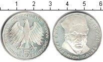 Изображение Монеты ФРГ 5 марок 1977 Серебро XF