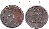 Изображение Монеты Монако 100 франков 1956 Медно-никель XF Ренье III
