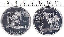 Изображение Монеты Испания 50 евро 2009 Серебро Proof Сальвадор Дали