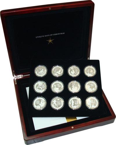 Изображение Подарочные монеты Ниуэ Двенадцать дней Рождества 2009 Серебро Proof