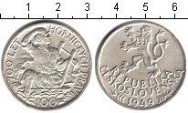 Изображение Мелочь Чехословакия 100 крон 1949 Серебро XF