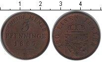 Изображение Монеты Пруссия 3 пфеннига 1867 Медь XF В