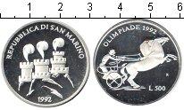 Изображение Монеты Сан-Марино 500 лир 1992 Серебро Proof- Олимпийские игры 199