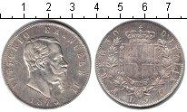 Изображение Монеты Италия 5 лир 1873 Серебро XF Виктор Эмануэль II
