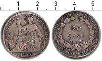 Изображение Монеты Индокитай 20 центов 1922 Серебро