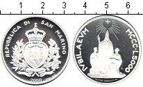 Изображение Монеты Сан-Марино 5000 лир 2000 Серебро Proof Святой год