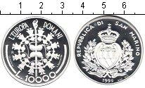 Изображение Монеты Сан-Марино 10000 лир 1999 Серебро Proof Европейский союз